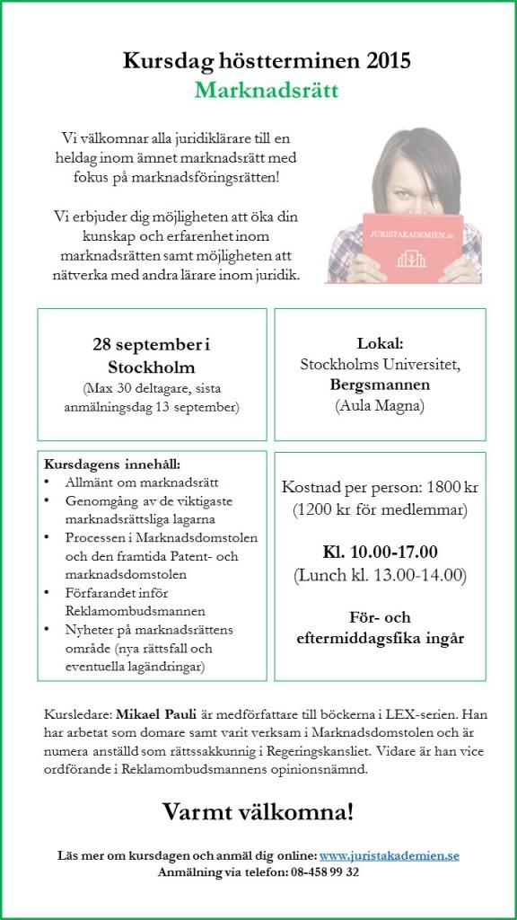 Inbjudan kursdag marknadsrätt