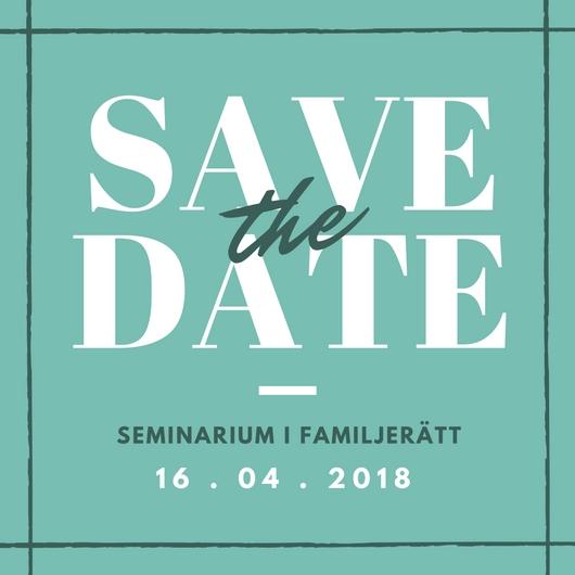 seminarium familjerätt