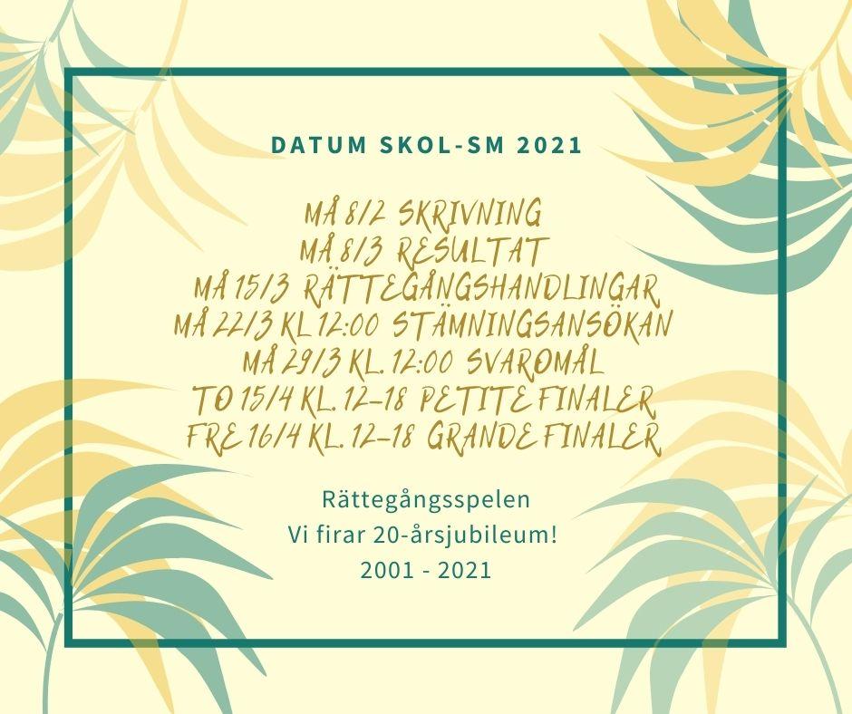 Datum Skol-SM i juridik 2021
